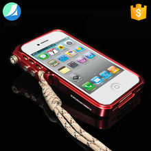 Premium metal bumper case mobile phone case shockproof cover for iPhone 4/4S