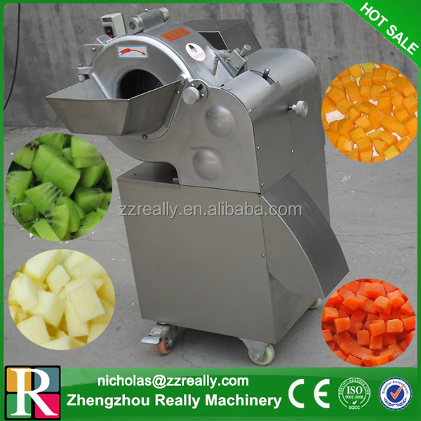 Onion/potato/ginger dice cutting machine, 1000kg/h commercial vegetable dicer