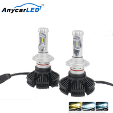 Anycarled factory 6000lm X3 h4 auto motorcycle car LED Headlight Auto Electrical System