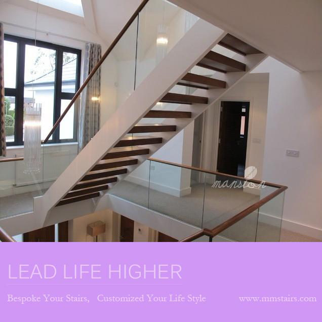 Moderne glazen reling ontwerp indoor houten trappen afbeelding trappen product id 1850523715 - Railing trap ontwerp ...