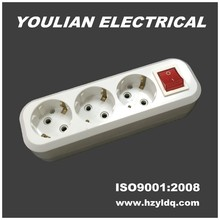 3 outlets Electrical socket ABS material with switch