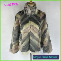 To be the sole agent Luxury brand artificial wool imitation leather stripe shawl