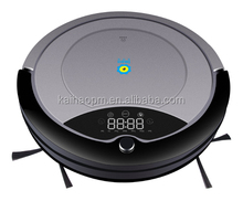 intelligence Robot vacuum cleaner with mobile phone Wi-Fi app control/MP3 music play/mop for wet and dry floor 1687