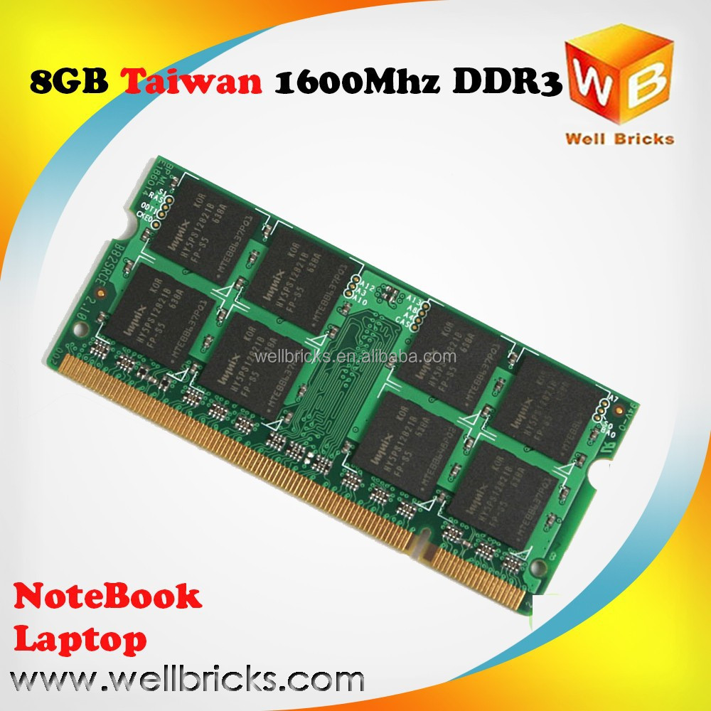 Hot selling laptop ram memory ddr3 8g with original chips