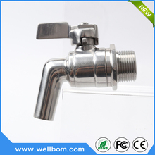 Wine Beer Beverage Juice Dispenser Spigot Drink Kegs Stainless Steel Beer Faucet Tap 200PSI For HomeBrew Barrel Fermenter