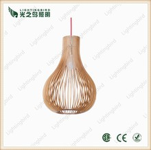 2015 wood pendant light artistic wooden hanging lamp for hotel