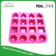 China Supplier FDA LFGB silicone chocolate cup mold