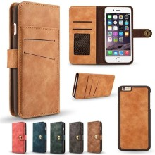 5 Colors Available,Wholesale Price Retro Card Split Magnet Wallet Leather Case for iPhone 7,for iPhone 7 Cover
