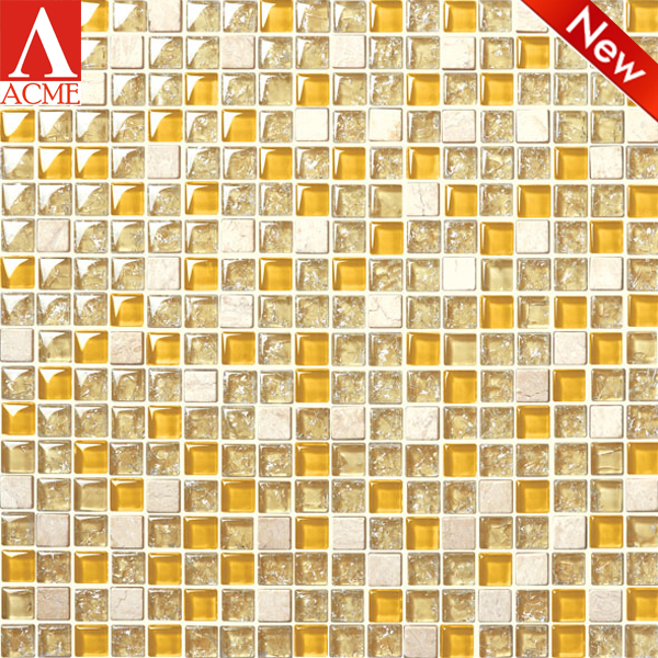 wholesale Mixed Stone ceramic glass mosaic floor and wall tile