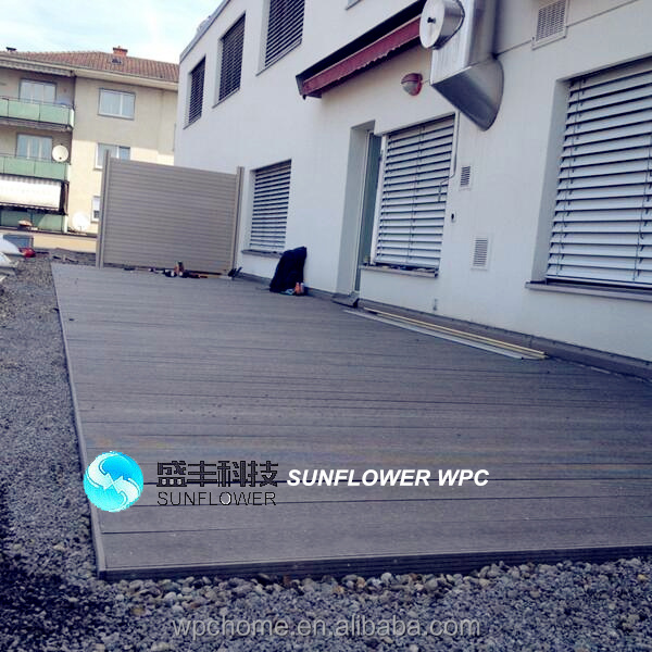 high quality&eco-friendly longlast wood decking wood plastic composite better than lowes outdoor deck tiles
