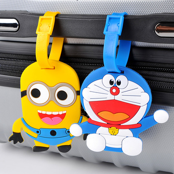 pvc luggage tag 3D embossed logo air plane tag board card