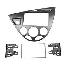 2 DIN Car Radio Frame Fascia for Ford Fiesta Focus Double Din Stereo Mount Installation Trim Bezel Kit