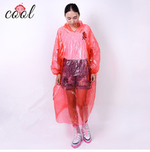 wholsale cheap one time use pvc rain coat breathable rain poncho disposable with sleeves
