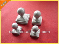 Cast aluminium metal fence post ball tops