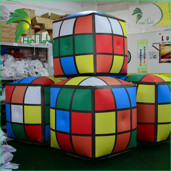 Customize PVC Air Sealed Inflatable Rubik's Cube, Helium Square Balloon, Inflatable Magic Puzzle Cube For Advertising
