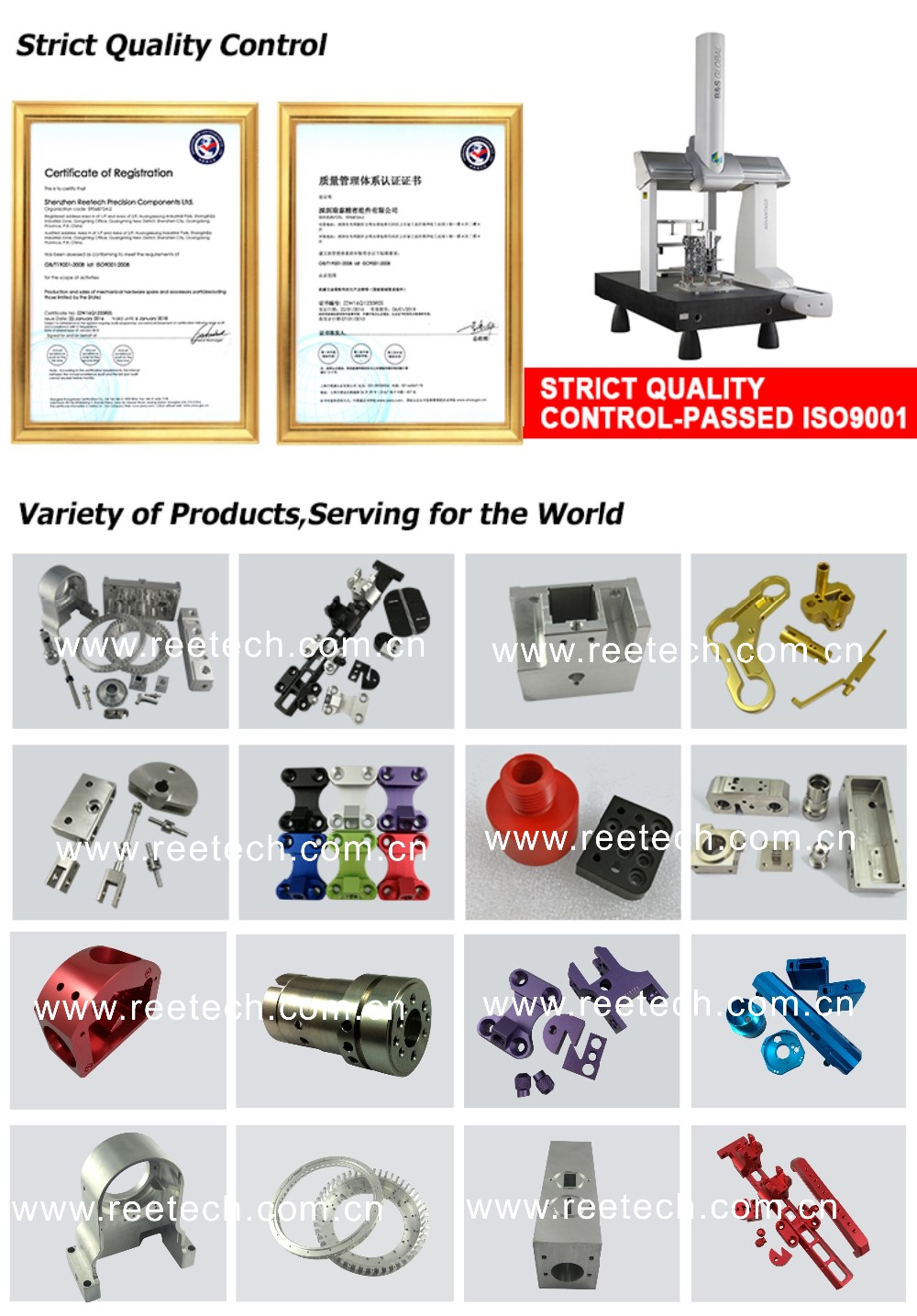Chinese factory cnc machining parts with design service and good delivery time