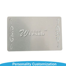 Wholesale Cheap DIY Blank Silver Plated Die Cut Embossed Custom Sublimation Metal Business Cards With Butterfly Edge