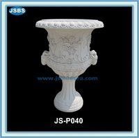 Wholesale White Cemetery Stone Flower Pot From China