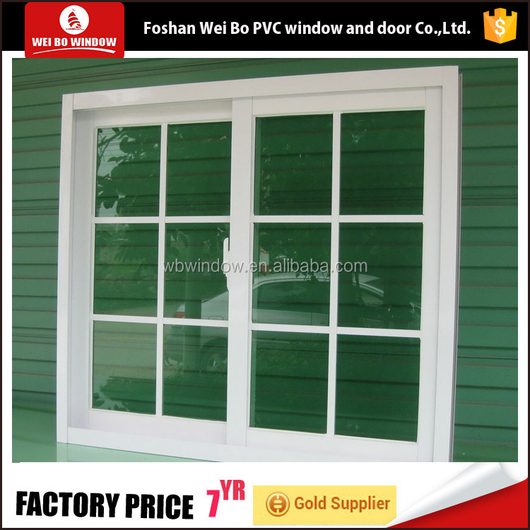 Decorative interior Plastic PVC side hung casement opening window burglar designs for home