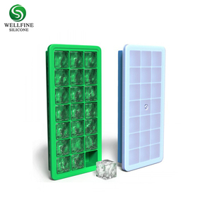 Food Grade Personalized Silicon Ice Cube Mold, Custom Silicone Ice Cube Tray With Lid
