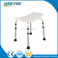 Bathroom safety equipment Aluminum Plastic Shower chair for Elderly Disabled