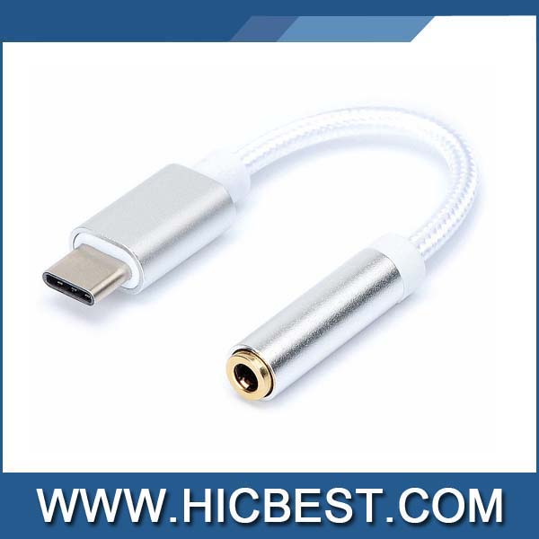 Type C to 3.5 mm Headphone Jack USB C Adapter for Type C port to 3.5 mm Audio Jack Earphone Cable Adapter