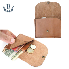 Custom slim mens genuine leather business credit card holder thin wallet