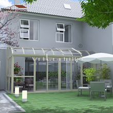 Aluminium prefab conservatory / lowes sunrooms with polycarbonate roof for leisure life