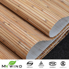 bamboo wallcoverings yellow beige natural textured reed wallpaper for home decoration
