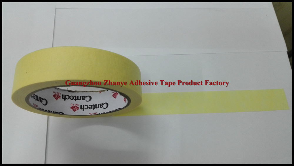 Automotive crepe paper masking tape for paint