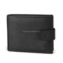 RFID Bifold Purse Short Thin Leather Mens Zipper Luxury Card Wallet