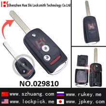 Top sale Auto 3-button remote modified folding key shell 029810