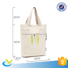 Standard size cotton canvas tote bag