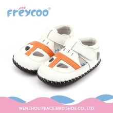Hot sale summer infant toddler walking barefoot sandals baby leather shoes