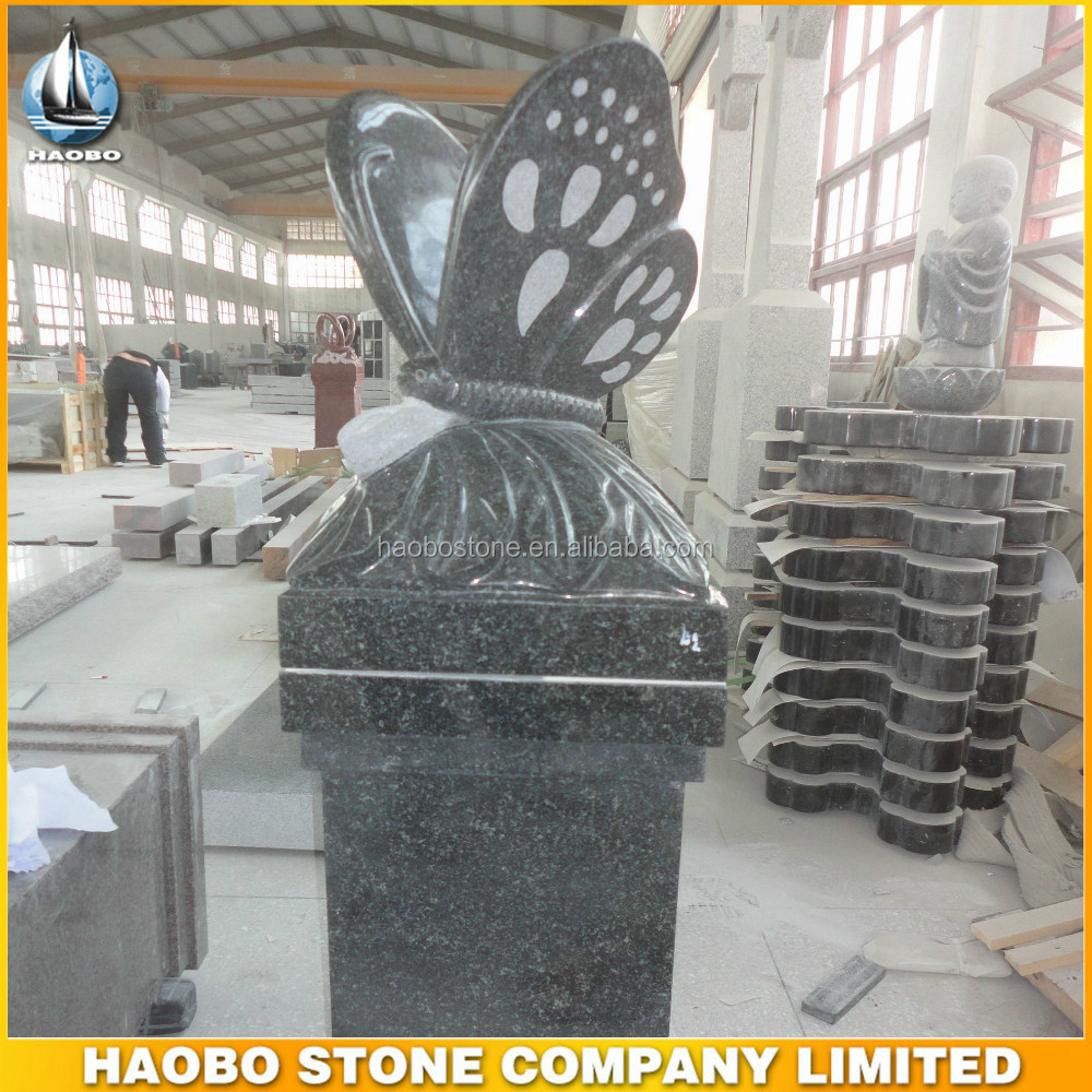 granite monument tomb design butterfly headstones