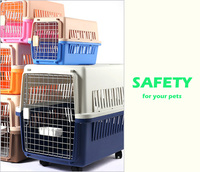 Different Size Plastic Pet Carrier Dog Flight Cage Cat Transport Box Pet Kennel