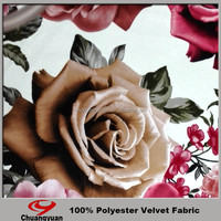 China Factory Direct Turkey Printing 100 Polyester Brushed Velvet Fabric For Garment Wholesale