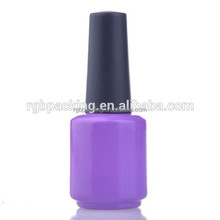 wholesale custom 15ml glass soak off gel nail container with cap and brush