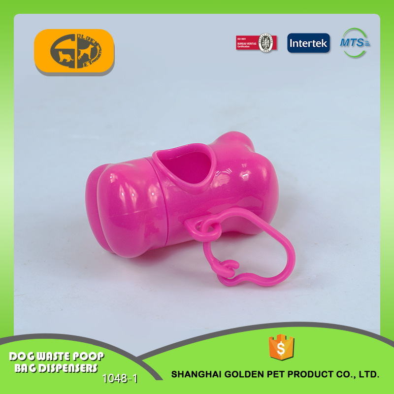 Promotional bone shaped pill shaped dog waste bag dispenser
