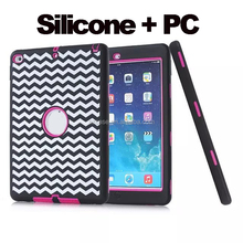 New Design Silicone case for ipad air 2 , for ipad 6 case, for ipad air tpu pc 3 in 1 stand case