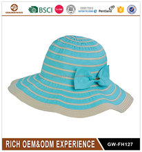 Promotion straw boater hat custom Straw Hat blank wholesale foldable hat