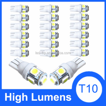 2015 Newest wholesale led day light car T10 led 5SMD 5050 DC 12V light car bulb