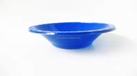 Fancy plastic solid salad bowl /outdoor partyware/disposable tableware
