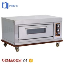 Complete Bakery Equipment of Stainless Steel Material Electric Oven under Baking Machine with One Deck Two Trays Made in China