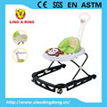new european standard baby walker with metal frame and lovely monkey face