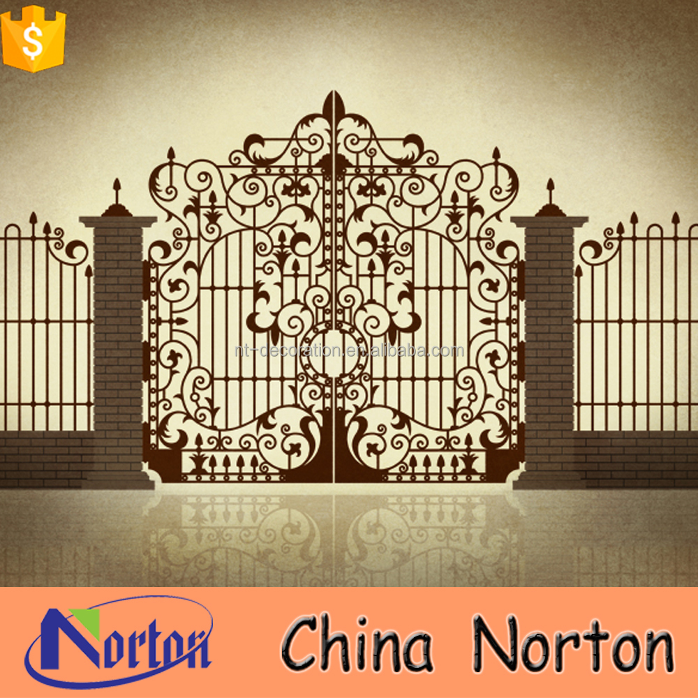 main door models wrought iron door house gate grill designs NTIRG-310X