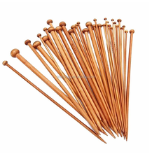 2.0-10.0mm carbonized Single Point Bamboo Knitting Needles Yarn Hand Knitting Needle Set