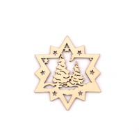 Christmas decorations Wooden star/snowflake Laser hollowed engraving