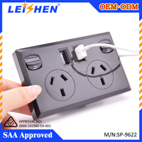 Duplex USB Wall Socket with switch AC 110-250V AU Wall power outlet 2 Port 5V 2.1A USB Outlet Power Charger