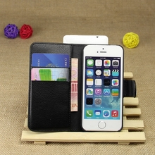 Customized new coming leather book case for apple for iphone5